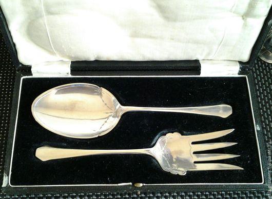 Винтажная посуда. Ярмарка Мастеров - ручная работа. Купить LB&S Роскошные сервировочные приборы1930 Англия столовые приборы. Handmade.