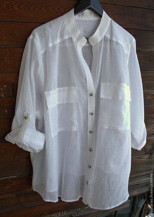 """Блузки ручной работы. Ярмарка Мастеров - ручная работа. Купить Блуза """"Свободный стиль"""". Handmade. Белый, блузка летняя"""