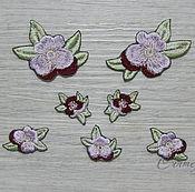 Материалы для творчества handmade. Livemaster - original item Embroidery applique Pansy purple thermopatch Flowers. Handmade.