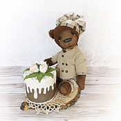 """Мишки Тедди ручной работы. Ярмарка Мастеров - ручная работа Мишка тедди """"Шоколадный торт"""", подарок кондитеру, подарок на 8 марта. Handmade."""