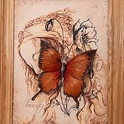 Картины и панно handmade. Livemaster - original item The volume picture of the skin is Beautiful. Panels of leather.. Handmade.