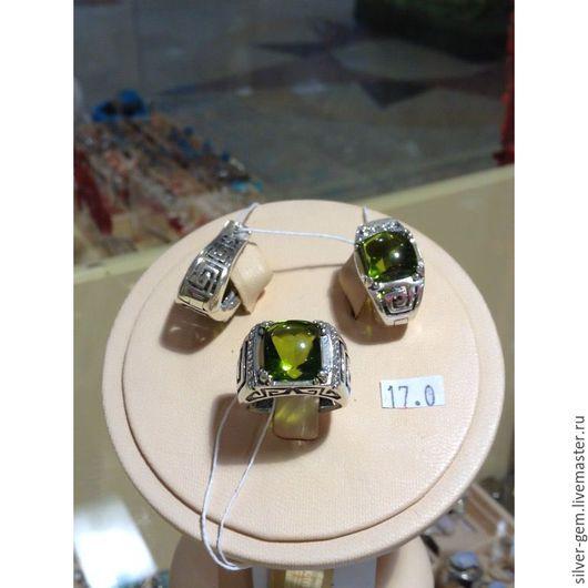 Комплекты украшений ручной работы. Ярмарка Мастеров - ручная работа. Купить Комплект с оливином в серебре 925. Handmade. Зеленый, оливин