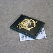 Канцелярские товары handmade. Livemaster - original item Lawyer ID card cover with business card pocket. Without pathos.. Handmade.