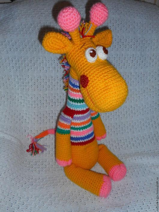 Игрушки животные, ручной работы. Ярмарка Мастеров - ручная работа. Купить Радужный жирафик.. Handmade. Комбинированный, игрушка в подарок, жирафик