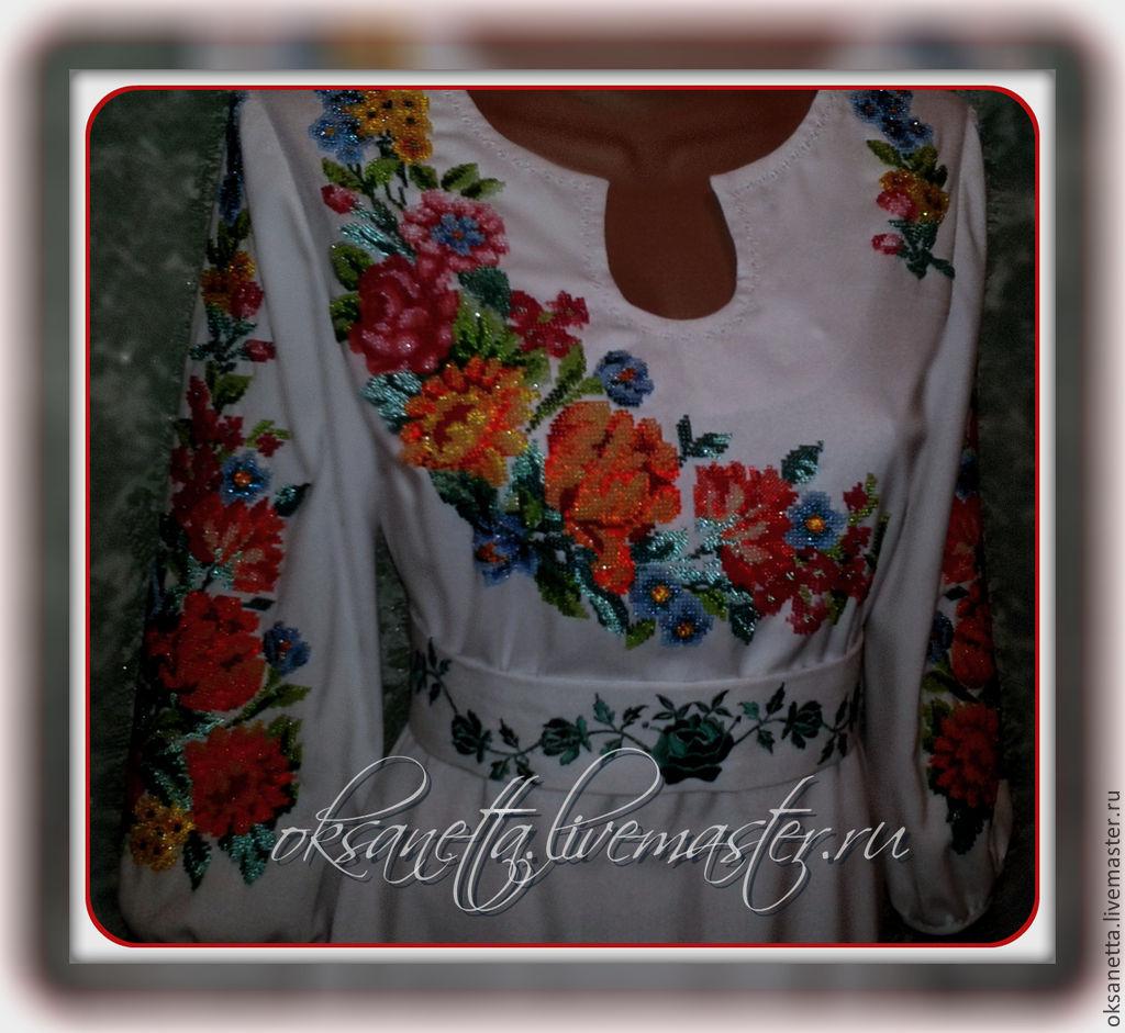 """Платья ручной работы. Ярмарка Мастеров - ручная работа. Купить Платье """"Весенняя радуга"""". Handmade. Белый, Платье белое"""
