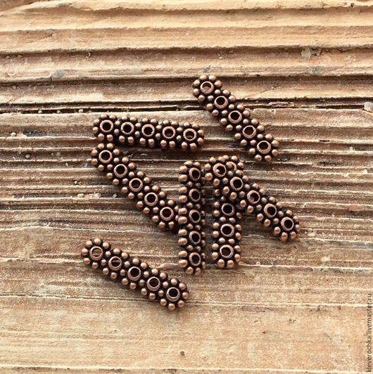 Для украшений ручной работы. Ярмарка Мастеров - ручная работа. Купить .Разделители на 5 нитей цвет медь античная фурнитура. Handmade.