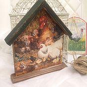 Для дома и интерьера ручной работы. Ярмарка Мастеров - ручная работа Ключница Птичий двор. Handmade.