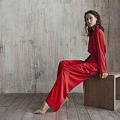 Одежда handmade. Livemaster - original item Silk dress in pajama style. Handmade.