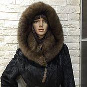 Одежда ручной работы. Ярмарка Мастеров - ручная работа Шуба норковая с соболем. Handmade.