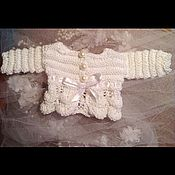 Куклы и игрушки ручной работы. Ярмарка Мастеров - ручная работа Ажурный жакет. Handmade.