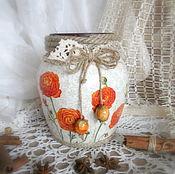 Для дома и интерьера ручной работы. Ярмарка Мастеров - ручная работа Ваза для цветов Лютики. Handmade.