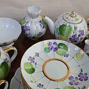 Винтаж handmade. Livemaster - original item Tea set 24 items Forest violet LFZ. Handmade.