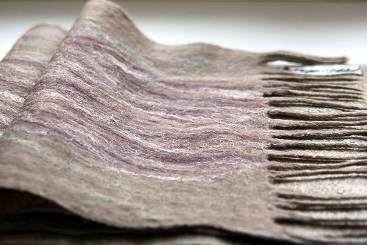 """Шарфы и шарфики ручной работы. Ярмарка Мастеров - ручная работа. Купить Валяный мужской шарф """"Autumn moss"""". Handmade."""