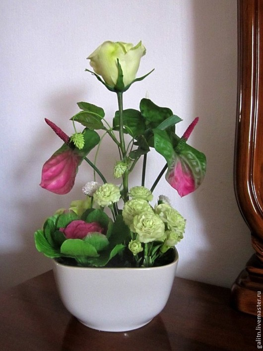 Интерьерные композиции ручной работы. Ярмарка Мастеров - ручная работа. Купить Цветы- роскошный дар природы........ Handmade. Фуксия