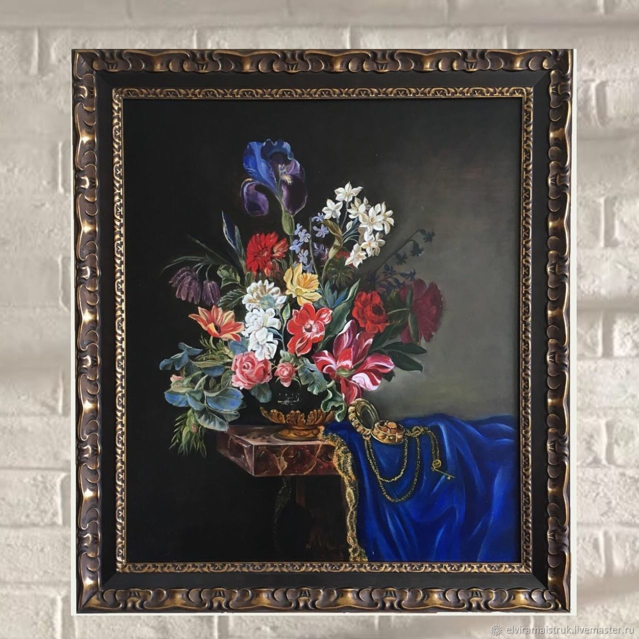 Oil painting blue brown olive red, Pictures, St. Petersburg,  Фото №1