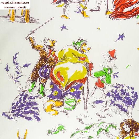 """Шитье ручной работы. Ярмарка Мастеров - ручная работа. Купить Итальянская ткань №50, хлопок 100%, """"Пиноккио"""". Handmade. Комбинированный"""