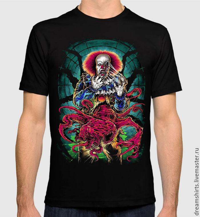 "Футболка с принтом ""Стивен Кинг - Оно"", T-shirts, Moscow,  Фото №1"
