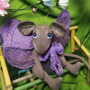 Куклы и игрушки ручной работы. Ярмарка Мастеров - ручная работа Тедди Зверята: Крысобабочка. Handmade.