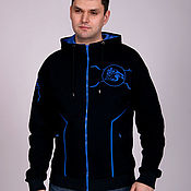 Одежда handmade. Livemaster - original item Stylish hoody with zipper