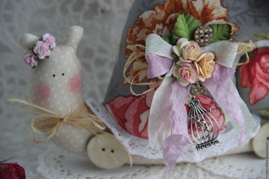 """Куклы Тильды ручной работы. Ярмарка Мастеров - ручная работа. Купить Улитка """"Дыхание Весны"""". Handmade. Серый, улитка в подарок"""