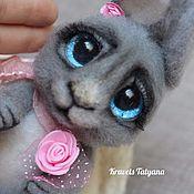 Куклы и игрушки handmade. Livemaster - original item Copyright felted toy Teddy Bunny button. Handmade.