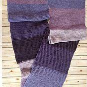 Шарфы ручной работы. Ярмарка Мастеров - ручная работа Вязаный шарф широкий теплый. Handmade.