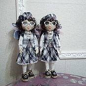 Портретная кукла ручной работы. Ярмарка Мастеров - ручная работа Портретная кукла: близняшки Оля и Яло. Handmade.