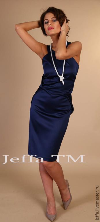 Платья ручной работы. Ярмарка Мастеров - ручная работа. Купить Платье Манхеттен т.синий арт.5297. Handmade.