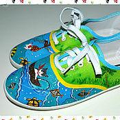 """Обувь ручной работы. Ярмарка Мастеров - ручная работа Кеды """"Морские истории"""". Handmade."""