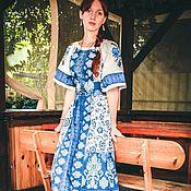 Одежда ручной работы. Ярмарка Мастеров - ручная работа Платье длинное Царевна бохо шик. Handmade.