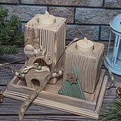 Для дома и интерьера handmade. Livemaster - original item Interior set of candlesticks Fairy forest. candle decoupage.. Handmade.