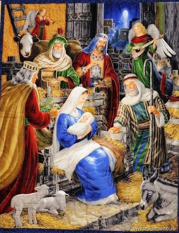 Подарок на Рождество лоскутное покрывало РОЖДЕСТВО, Пледы, Москва,  Фото №1