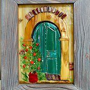 """Для дома и интерьера ручной работы. Ярмарка Мастеров - ручная работа Картина из стекла """"Дверь"""". Handmade."""