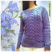 Одежда handmade. Livemaster - original item Sweater women`s Blue Scilla, 95% Merino wool, 5% leacril. Handmade.