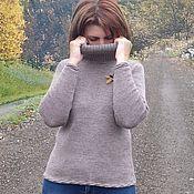 """Одежда ручной работы. Ярмарка Мастеров - ручная работа Готовая работа : Вязаный свитер   с воротом """" хомут"""". Handmade."""