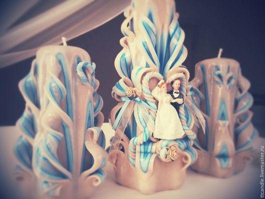"""Свадебные аксессуары ручной работы. Ярмарка Мастеров - ручная работа. Купить Семейный очаг """"Любовь и лебеди"""". Handmade. Разноцветный"""
