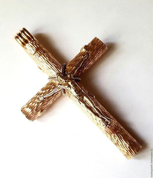 Кулоны, подвески ручной работы. Ярмарка Мастеров - ручная работа. Купить Золотой крест православный. Handmade. Крест, белое золото