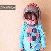 Работы для детей, ручной работы. Ярмарка Мастеров - ручная работа Шапочка Зайка в цветах. Handmade.
