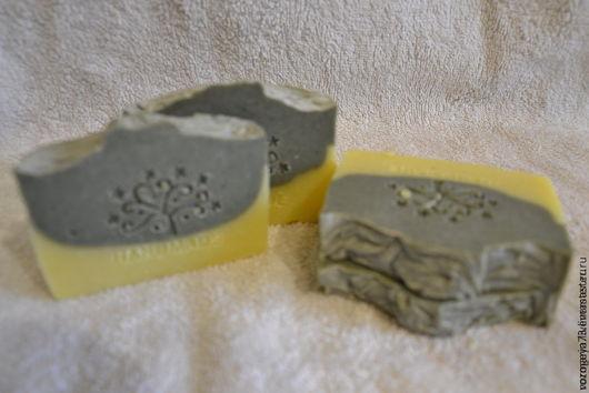 Мыло ручной работы. Ярмарка Мастеров - ручная работа. Купить Мыло с белой глиной Мятная лаванда. Handmade. белая глина