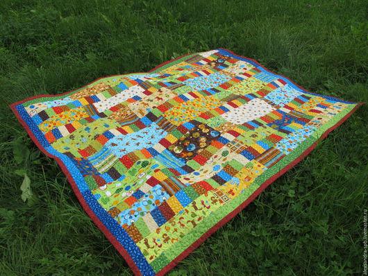Текстиль, ковры ручной работы. Ярмарка Мастеров - ручная работа. Купить Лоскутное покрывало. Handmade. Комбинированный, лоскутное одеяло, бязь