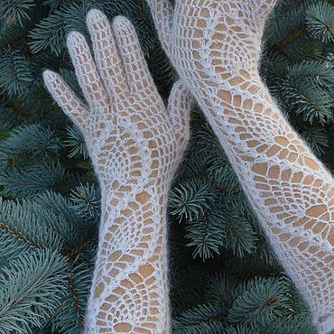 Accessories handmade. Livemaster - original item Gloves down