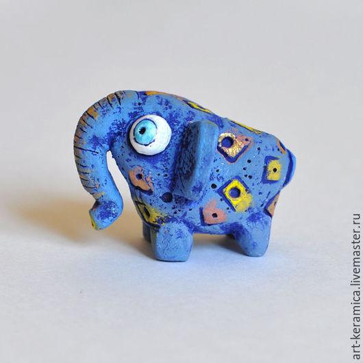 Миниатюрные модели ручной работы. Ярмарка Мастеров - ручная работа. Купить Слон керамический Фреди. Фигурка слона, слон сувенир. Handmade.