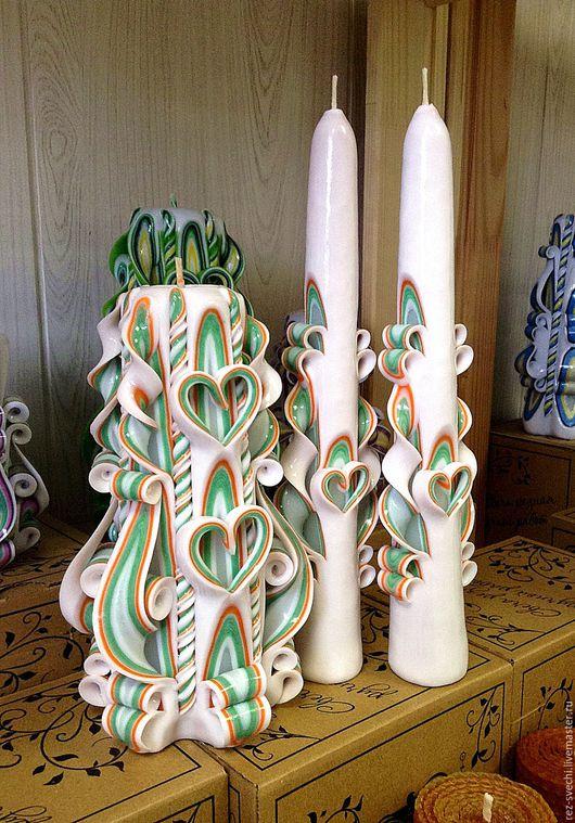 Семейный очаг: резная свеча для молодоженов + 2 резные свечи для родителей. Резные Свечи в СПб, свадебные свечи. Свадебная церемония. Семейный очаг. Резные свечи семейный очаг. Резные свечи