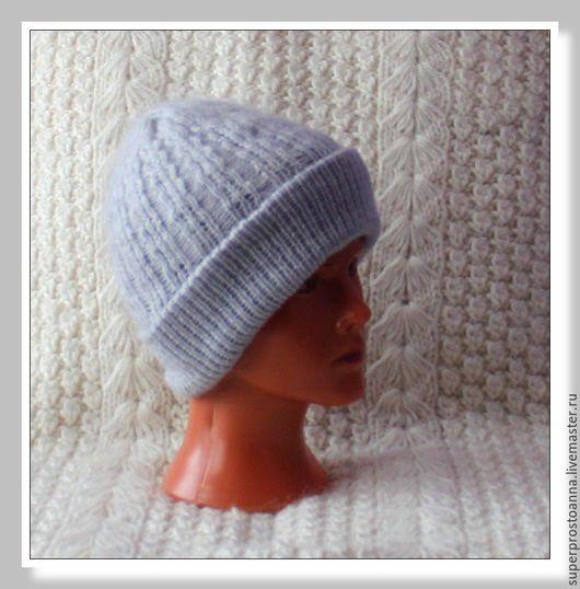 Шапки ручной работы. Ярмарка Мастеров - ручная работа. Купить шапка женская вязаная с козьим пухом шапка пуховая. Handmade.