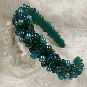Украшения handmade. Livemaster - original item Bezel. tiara. Diadema. emerald.. Handmade.