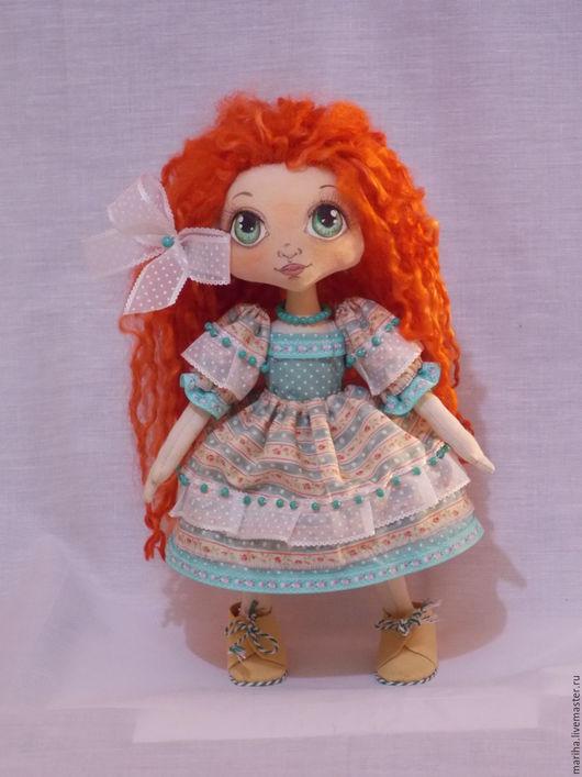 Куклы тыквоголовки ручной работы. Ярмарка Мастеров - ручная работа. Купить Текстильная рыжеволосая девочка. Handmade. Тыквоголовка, кукла текстильная