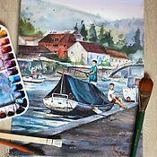 Картины и панно ручной работы. Ярмарка Мастеров - ручная работа Рыбаки. Handmade.