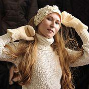 Аксессуары ручной работы. Ярмарка Мастеров - ручная работа шапочка-повязка на голову. Handmade.
