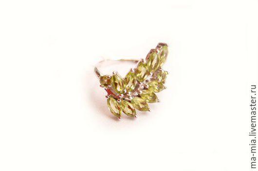 Кольца ручной работы. Ярмарка Мастеров - ручная работа. Купить кольцо Хризолит. Handmade. Оливковый, хризолит натуральный, хризолит в серебре