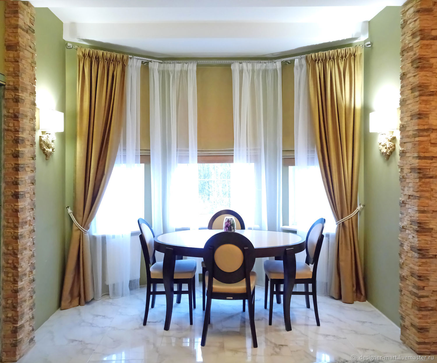 Curtains for Bay Windows in modern style, Curtains1, Moscow,  Фото №1
